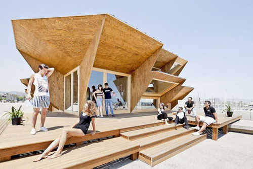 02 side elevation endessa2 - Endesa Pavilion, Smart City Expo, Barcelona, Spain