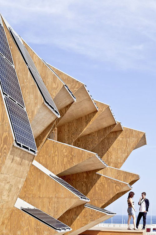 05 facade jumble1 - Endesa Pavilion, Smart City Expo, Barcelona, Spain