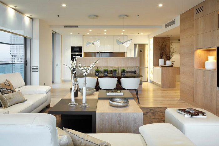 1. Contemporary apartment via Molins Interiors