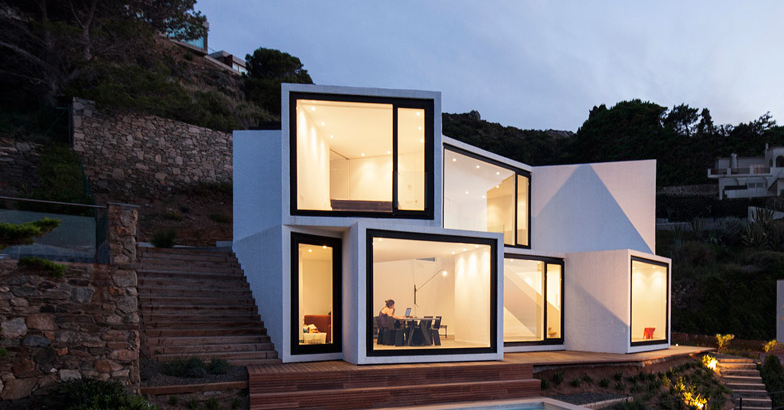 1. Sunflower House Girona - Impressive House Design in Girona: Sunflower House