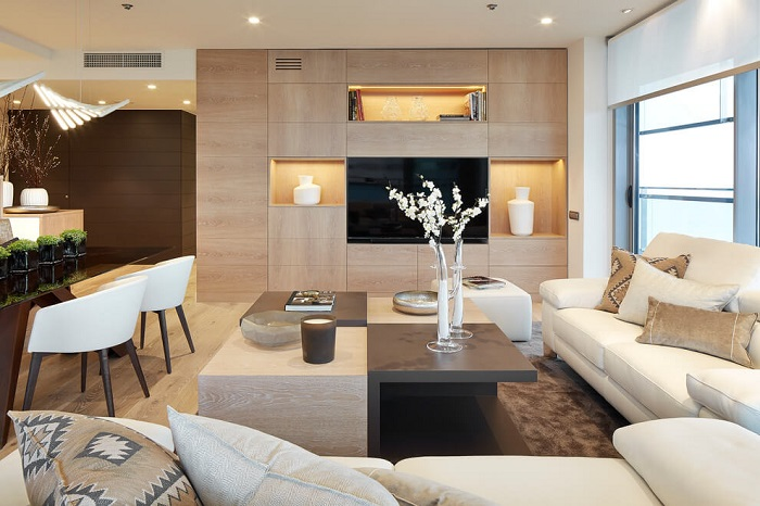 2. Contemporary apartment via Molins Interiors