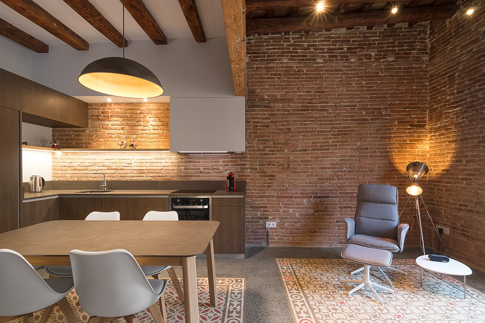 3. Brick apartment in Barcelona by FFWD - Full apartment renovation in Barcelona by FFWD