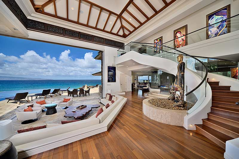 this extraordinary beachfront estate on a mile white sand beach - Luxury Beach Home Interiors