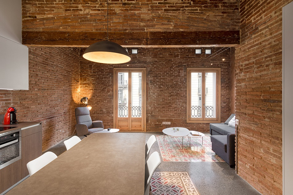 4. Brick apartment in Barcelona by FFWD - Full apartment renovation in Barcelona by FFWD