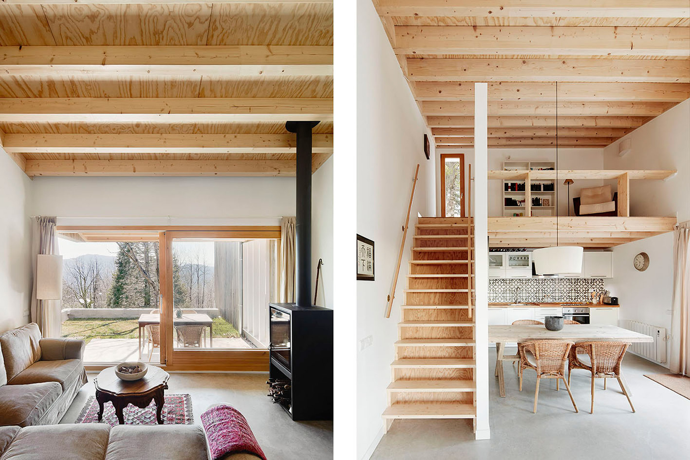 4. Prefababricated wooden home in the Pyrenees by architect Marc Mogas - Prefabricated wooden home in the Pyrenees by architect Marc Mogas