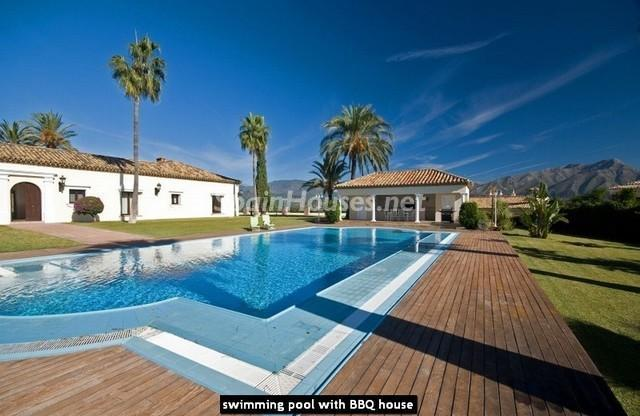 Swimming pool and BBQ