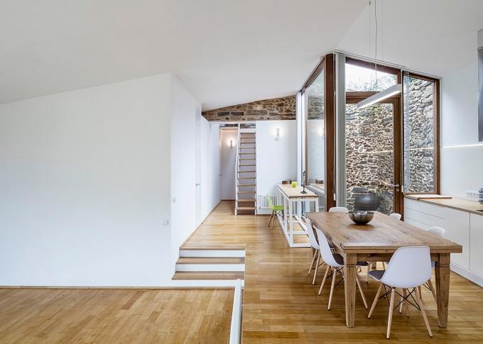 5. Stone wine cellar converted into home in Galicia - Stone wine cellar converted into a home by Cubus Arquitectura