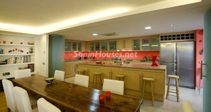 Dining and open kitchen