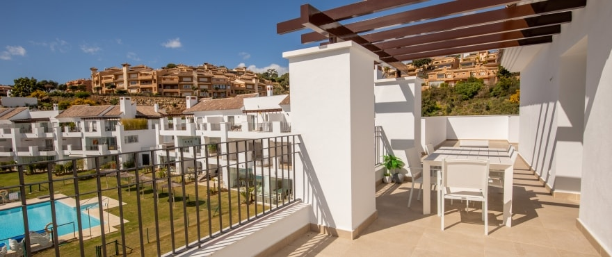 A5 2 La Floresta Sur Terrace Mz 2019 - Last apartments and penthouses with sea view in Elviria - Marbella. Now key ready