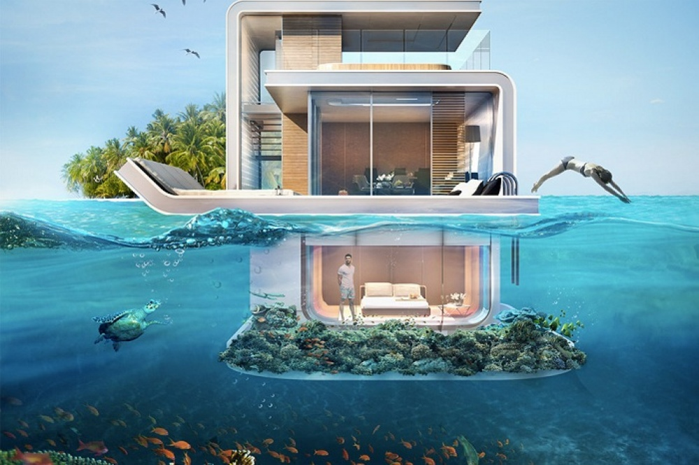 AD Dubai Spectacular Floating Apartments With Underwater Rooms 01 - Dubai shows a new project: spectacular floating apartaments with underwater rooms