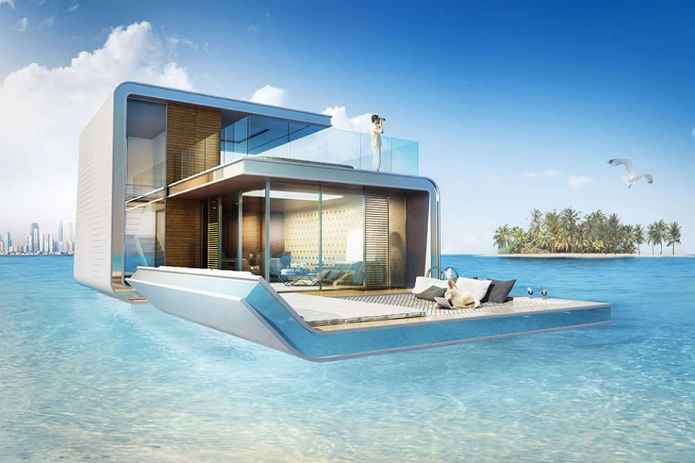AD Dubai Spectacular Floating Apartments With Underwater Rooms 02 - Dubai shows a new project: spectacular floating apartaments with underwater rooms