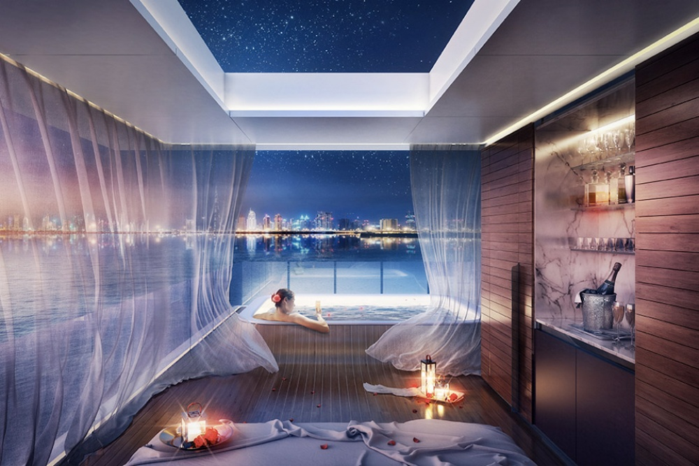 AD Dubai Spectacular Floating Apartments With Underwater Rooms 04 - Dubai shows a new project: spectacular floating apartaments with underwater rooms
