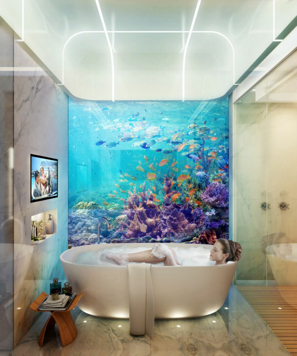 AD Dubai Spectacular Floating Apartments With Underwater Rooms 06 - Dubai shows a new project: spectacular floating apartaments with underwater rooms