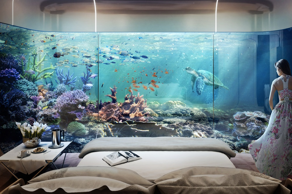 AD Dubai Spectacular Floating Apartments With Underwater Rooms 07 - Dubai shows a new project: spectacular floating apartaments with underwater rooms