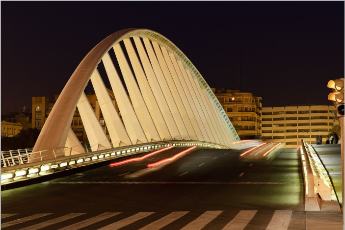 Alameda Bridge02 - Alameda bridge in Valencia, Spain