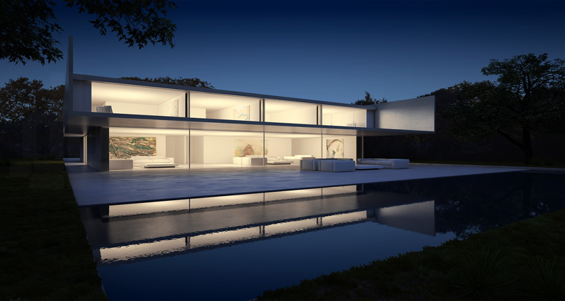Aluminum House in Madrid2 - Reflective Aluminum House in Madrid by Fran Silvestre Arquitectos