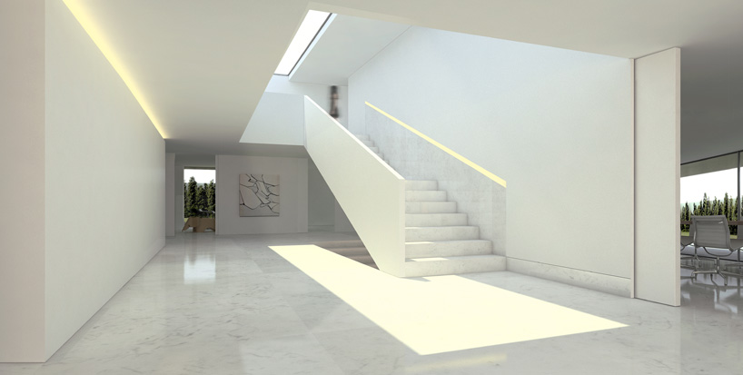 Aluminum House in Madrid4 - Reflective Aluminum House in Madrid by Fran Silvestre Arquitectos