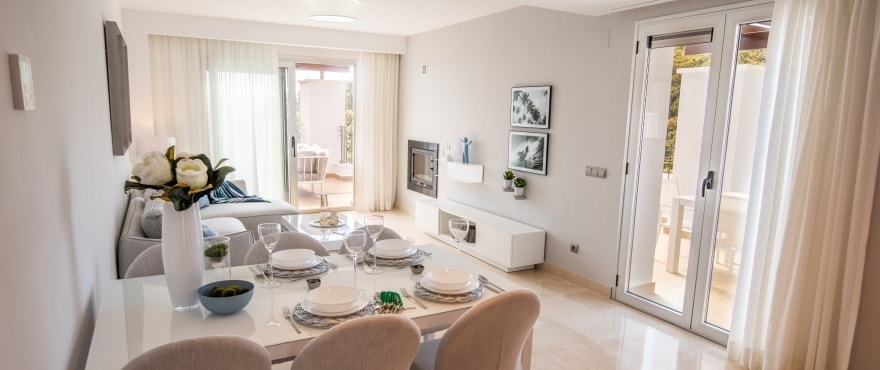 B1 La FLoresta Sur Livingroom Mz 2019 - Last apartments and penthouses with sea view in Elviria - Marbella. Now key ready