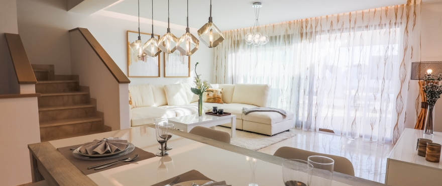 B1 NEW Horizon Golf townhouse salon Jan 2019 - Last townhouses for sale in La Cala Golf, Mijas (Malaga). Now key ready