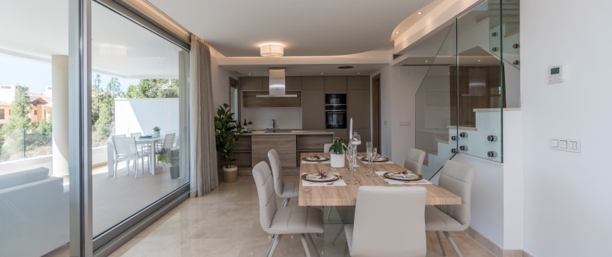B3 Botanic livingroom July2019 - Last 3 bed apartments with large terraces in Benahavís (Malaga). Now key ready