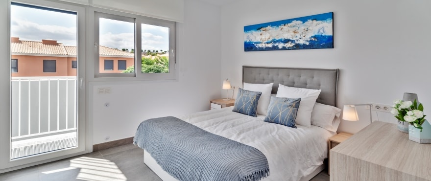 B8 Kiruna Residencial Alenda Golf  bedroom Sept 2019 - New townhouses for sale in Alenda Golf (Alicante) from €173,000. Best value for money in the area