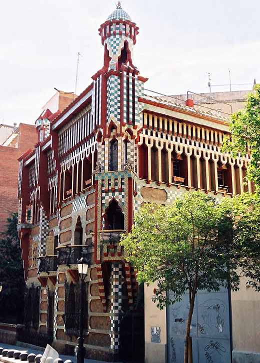 Casa Vicens - Architecture in Spain: Casa Vicens by Antoni Gaudí, Barcelona