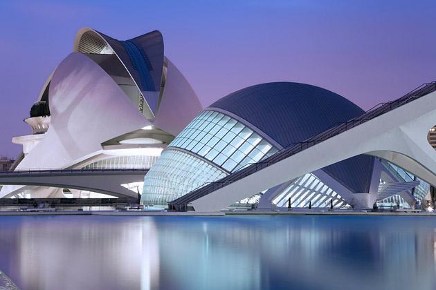 Ciutat de les Arts i les Ciències in Valencia Spain - City of Arts and Sciences in Valencia, Spain