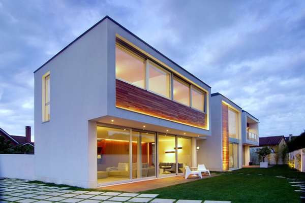 Exterior View Spanish House - Modern design in a private house in Northern Spain