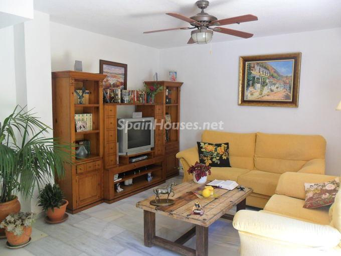 Living room - Beautiful Terraced chalet for sale in Torremolinos (Málaga)