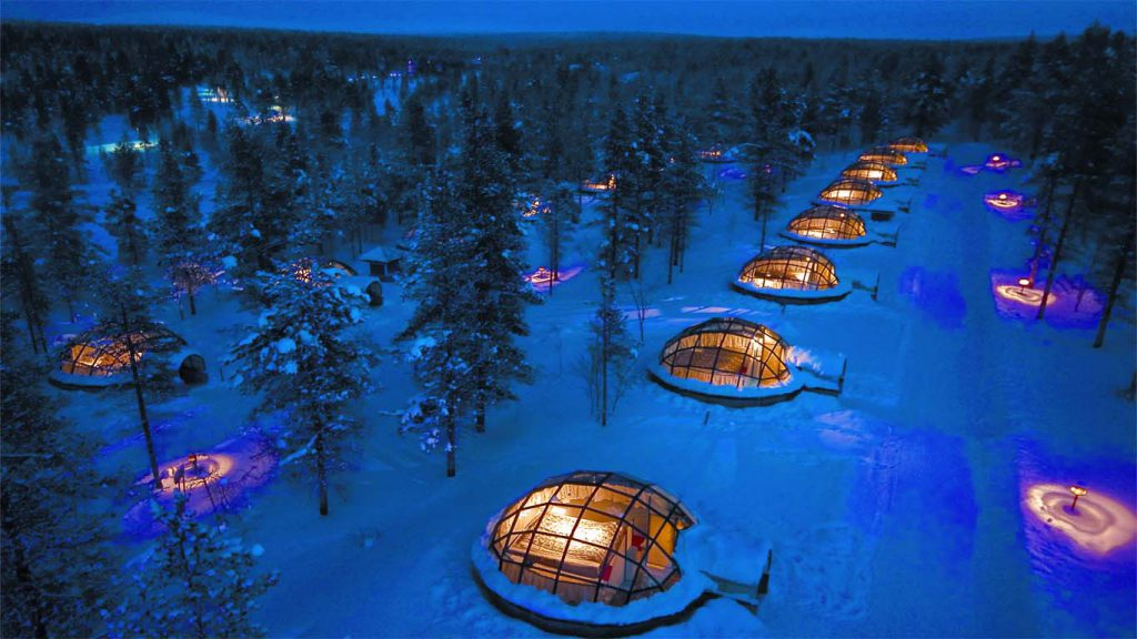 MAJOITUS Lasi iglut 1 1024x576 - The best ice hotels for true winter lovers