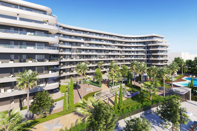Moderno apartamento en Malaga primera linea de playa - Modern beachfront apartment in Málaga