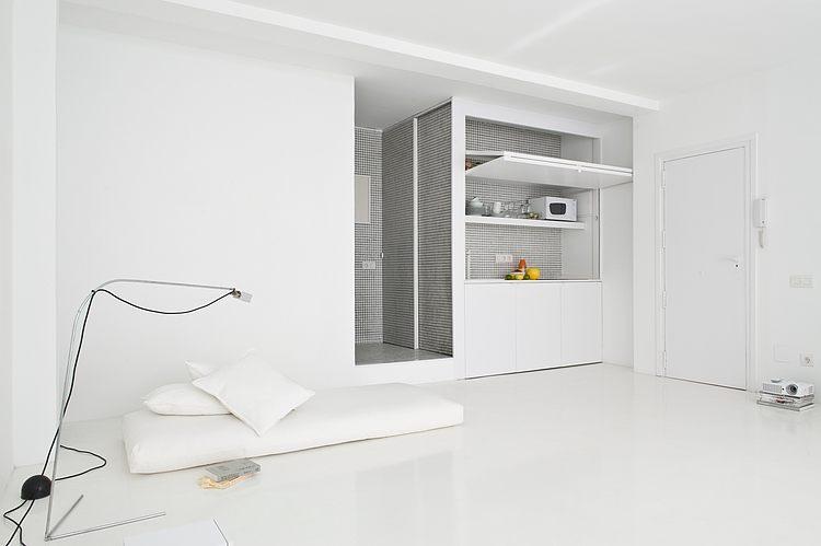 White apartment Barcelona 1