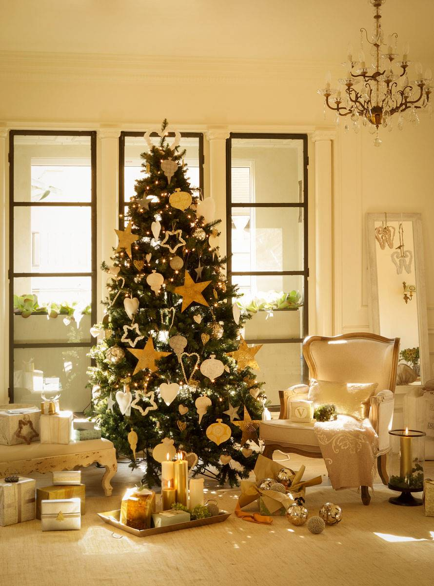 arbol navidad en salon 354087 o 61f40ca1 890x1200 - Get inspired with these Christmas trees and decorate your perfect tree