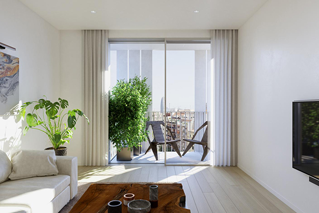 balcon piso lujo barcelona - This luxury apartment in Barcelona has it all: spaciousness, modern style and a private terrace