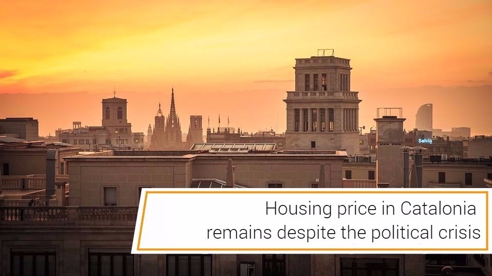 cabecra cataluña ingles - Housing price in Catalonia remains despite the political crisis