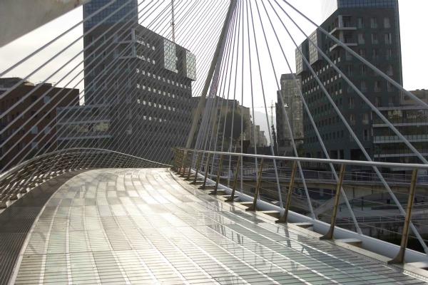 calatra7 - Zubizuri Bridge in Bilbao by Santiago Calatrava