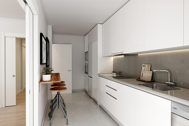 cocina el limonar - This luxury flat in Malaga will captivate you for its modern and attractive design