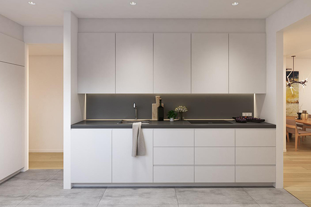 cocina piso lujo barcelona - This luxury apartment in Barcelona has it all: spaciousness, modern style and a private terrace