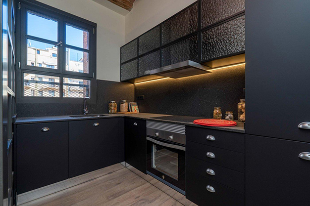 cocina raval - Modern apartment in Barcelona city centre ideal for those seeking a unique style