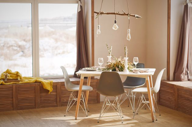colgador lampara - Ideas to decorate your home with recycled materials