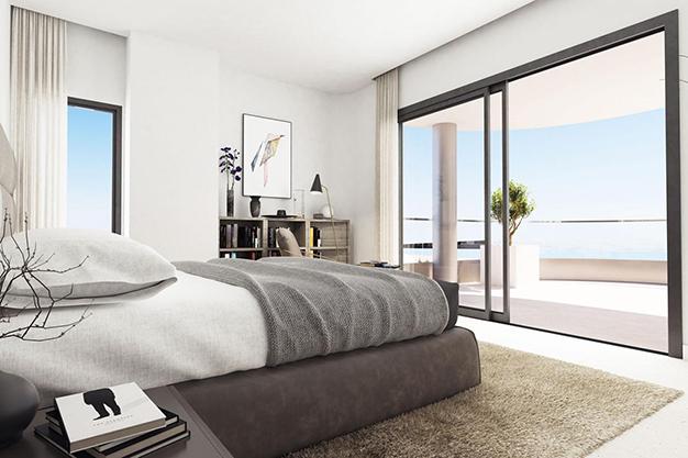 dormitorio 1 - Modern beachfront apartment in Málaga