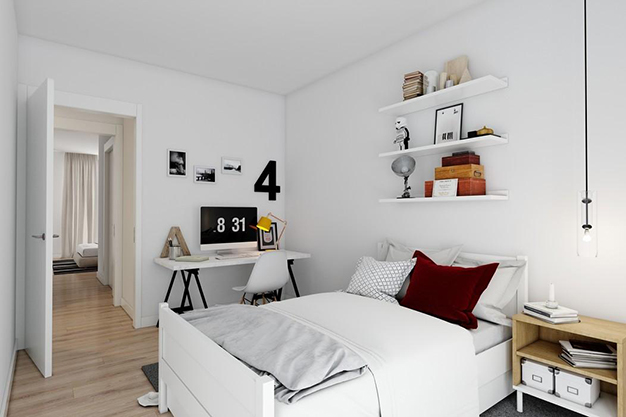 dormitorio 2 malaga - This luxury flat in Malaga will captivate you for its modern and attractive design