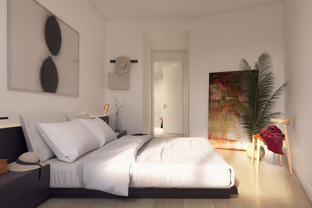 dormitorio principal piso lujo barcelona - This luxury apartment in Barcelona has it all: spaciousness, modern style and a private terrace