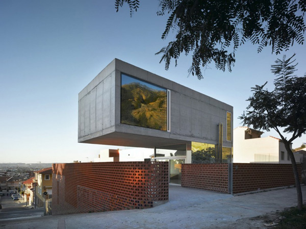 eclectic house design concrete steel mirror 1 - Modern Concrete House in Murcia