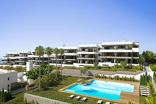 edificio estepona - Luxury apartment in Estepona with private garden and sea views: the total package