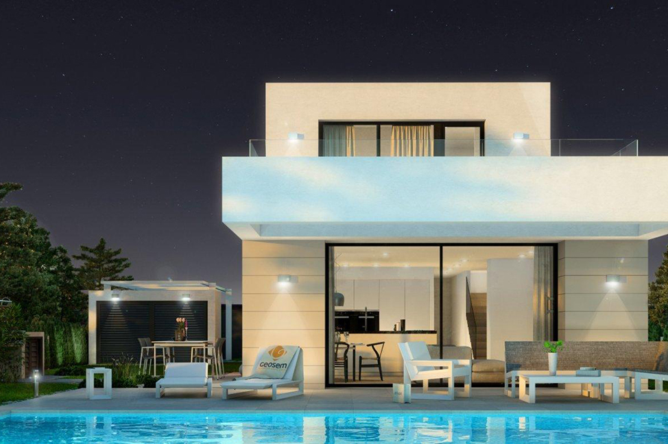 exterior 3 - Stunning modern villa in Alicante with extensive green areas