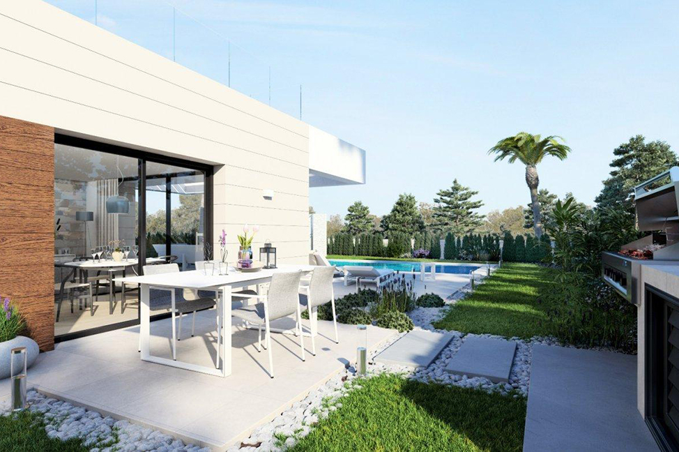 exterior1 - Stunning modern villa in Alicante with extensive green areas