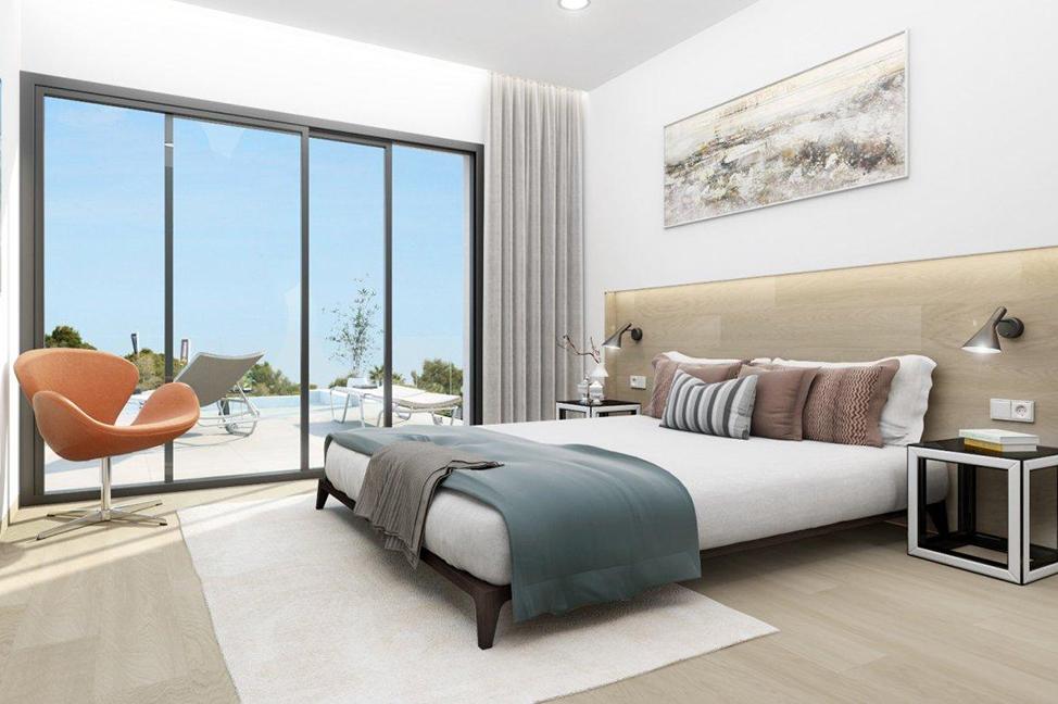 habitación - Stunning modern villa in Alicante with extensive green areas