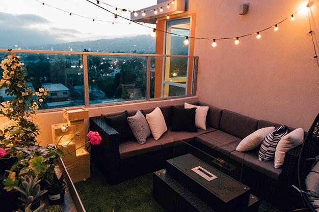 iluminacion - Easy, affordable ideas to decorate a terrace