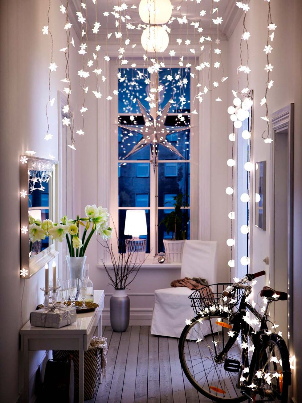 luces everywhere - Ideas to decorate halls at Christmas
